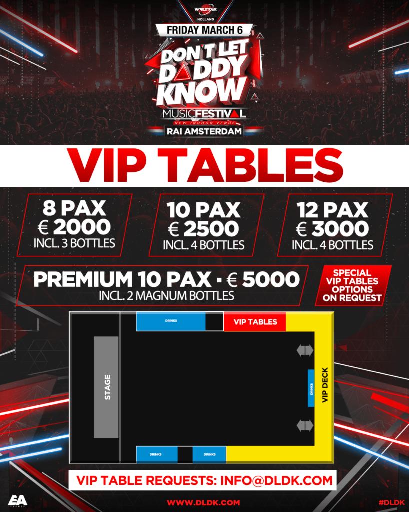 VIP Tables DLDK